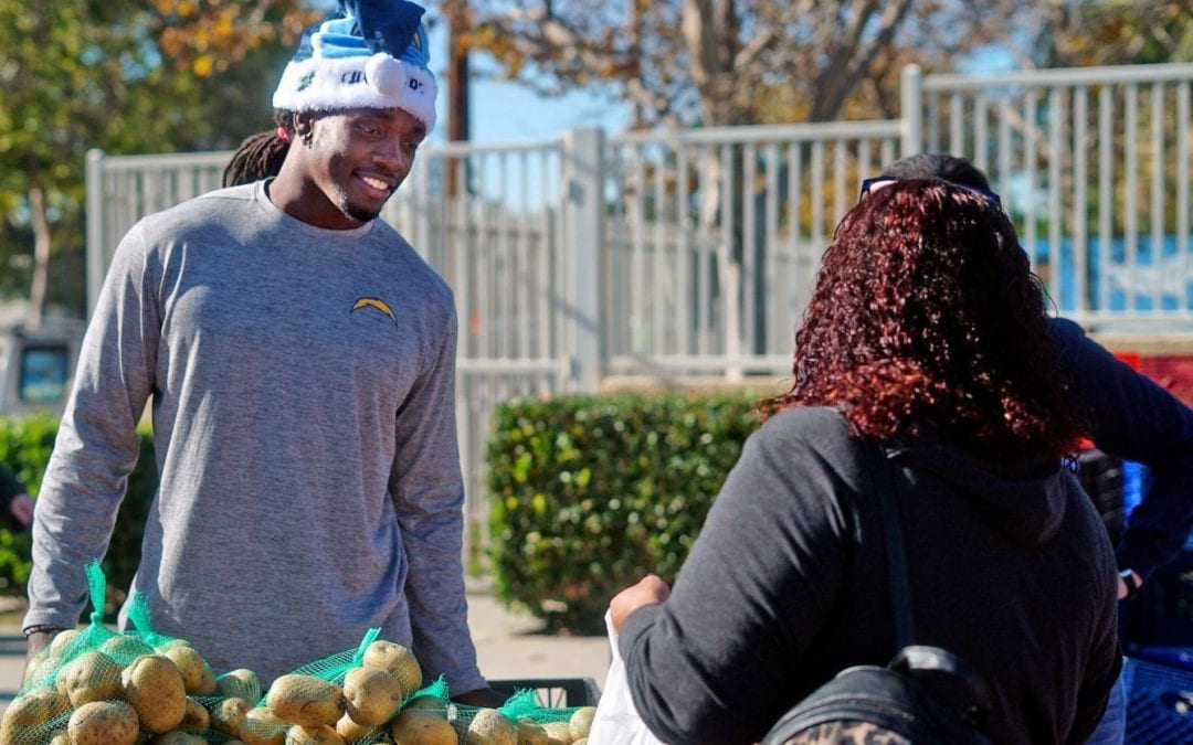 Chargers running back Melvin Gordon wants to end hunger in Orange County